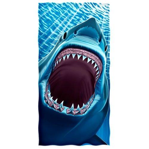 GREAT WHITE SHARK TEETH Beach/Shower Towel DHD-442