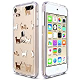 ULAK iPod Touch 6 Case, iPod Touch 7 Case, Slim Fit Hybrid Bumper TPU/Scratch Resistant Hard PC Back/Corner Shock Absorption Case for Apple iPod Touch 5th 6th 7th Generation, Cat