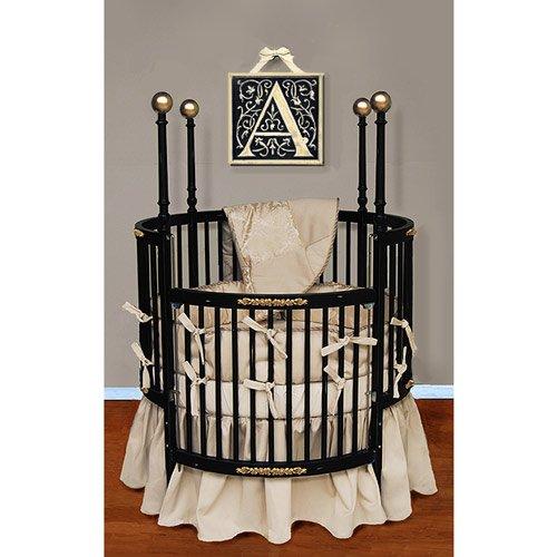 Round Baby Crib (Baby Doll Bedding Sensation Round Crib Bedding Set, Gold)