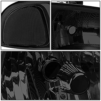 DNA Motoring HL-OH-DAN994P-BK-SM-CL1 4Pcs of Headlights+Bumper Lamp[02-06 GMC Sierra/Yukon]: Automotive