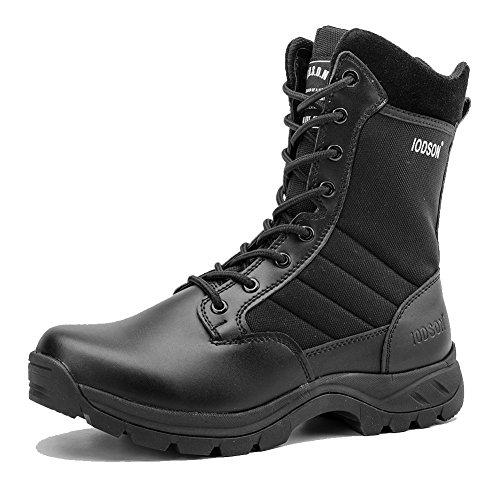 IODSON 928 Ultralight Combat Boots, Men's Military Tactical Jungle Boots,Side Zipper Desert Army Shoes (10.5 D(M) US, - Jungle Steel Toe