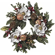 """24"""" Magnolia Pinecone & Berry Wreath This Incredible Holiday Wreath"""