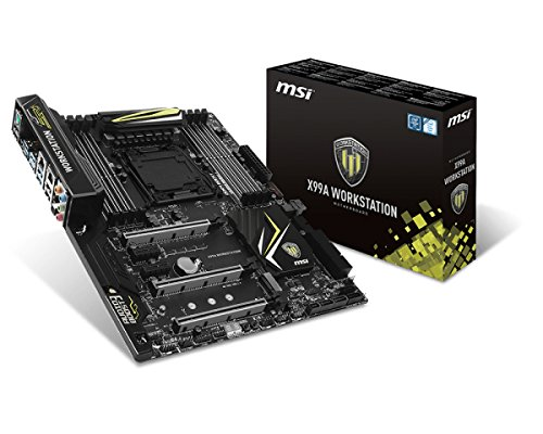 MSI X99A WORKSTATION Intel X99 LGA 2011-v3 - Placa base (DIMM, DDR4-SDRAM, Cuadrángulo, Intel, PC, Intel)