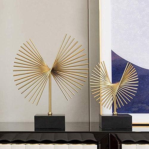 LJNYFクリエイティブホームデコレーション、アメリカのミニマリスト現代のワインキャビネットテレビキャビネットアートワークエントランスリビングルームの装飾品2個スタイリッシュで美しいです