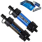 Sawyer Products SP2105 MINI Water Filtration System, 2 Pack, Blue and Black
