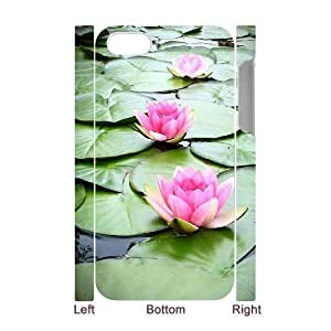 ALICASE Diy 3D Protection Hard Case Water Lily For Iphone 5C [Pattern-1]
