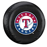 MLB Texas Rangers Tire Cover, Large, Black