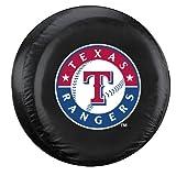 Fremont Die MLB Texas Rangers Tire Cover, Large, Black