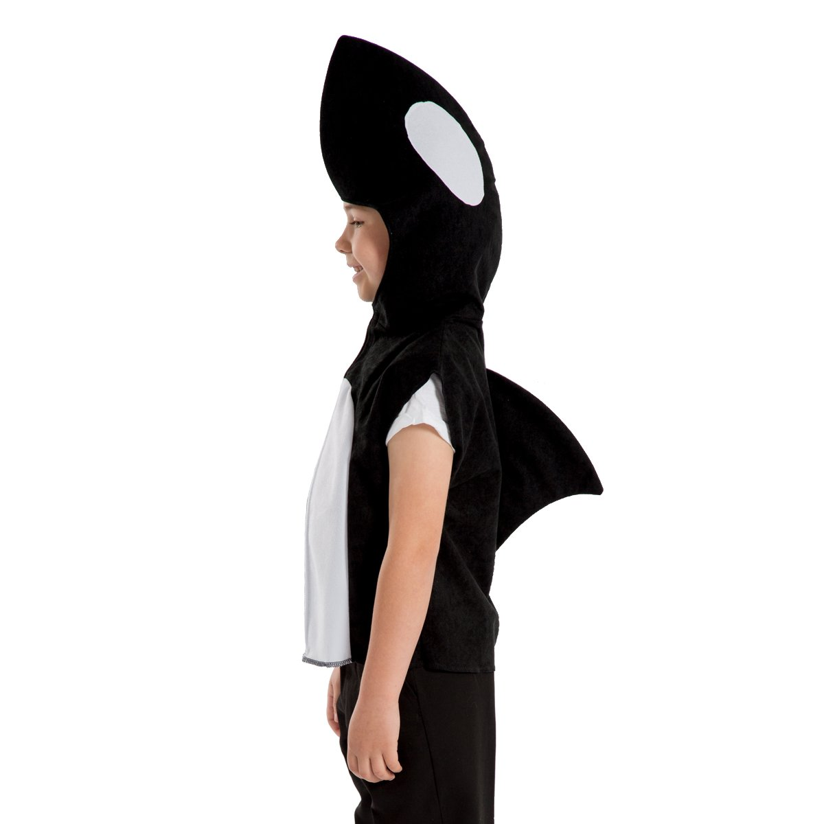 Charlie Crow Whale/Orca Costume for Kids one Size 3-8 Years Black and White