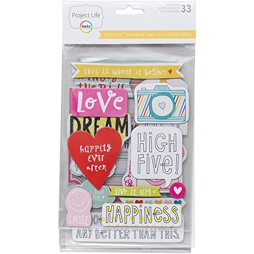 Chipboard Kit - Project Life Chipboard Stickers 33/pkg - High Five Edition