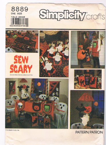 Simplicity 8889 Crafts Sewing Pattern Halloween Party Accessories