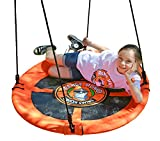 Flying Saucer Swing | Saucer Swing Will Help Your Child To Soar | (Lead Free) Steel Frame Easily Holds 685 Pounds | Passed 11 Product Safety Tests | Very Safe For Your Child | Multiple Kids Can Swing