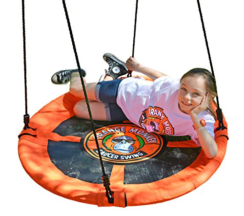 Flying Saucer Swing | Saucer Swing Will Help Your Child To Soar | (Lead Free) Steel Frame Easily Holds 685 Pounds | Passed 11 Product Safety Tests | Very Safe For Your Child | Multiple Kids Can Swing by Orange Monkey Outdoors