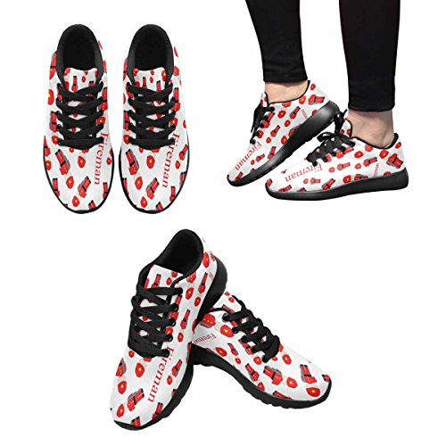 InterestPrint Womens Jogging Running Sneaker Lightweight Go Easy Walking Comfort Sports Athletic Shoes Cute Kids With Cartoon Toy Firefighters hton0oDK