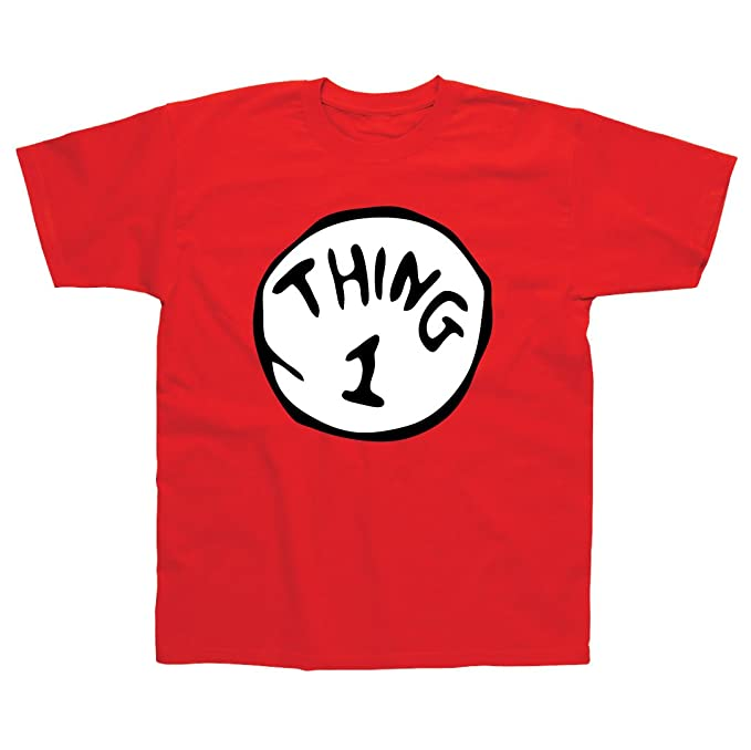 Postees Thing 1 Inspired by Cat in The Hat Adults T-Shirt Small