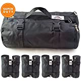 LARGE Canopy Weight Bags (40 lbs.) for Portable Canopy, Instant Canopy, E-Z Up Instant Shelter - SET of 4 Pop Up Canopy Weights - HEAVY DUTY, Weather Resistant - Easy & Portable Premium Tent Weights