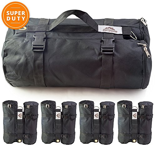 Outdoor Stuff Portable Canopy Weight Bags, Set of 4, Large (Hold 40 lb)