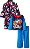 Image of Nickelodeon Little Boys' Toddler Paw Patrol 2-Piece Pajama Set with Robe, Blue, 3T