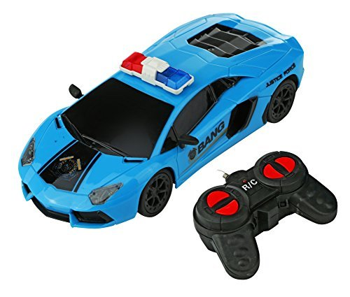 Advanced Play remote control car Lamborghini model high speed police super Car 1:22 scale full function 4CH rc race sportscar with smooth wheels lights best gift toy for Kids and adults