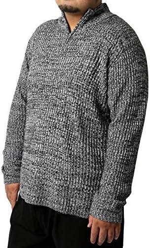 ニット メンズ 大きいサイズ ハーフジップ ハイネック セーター