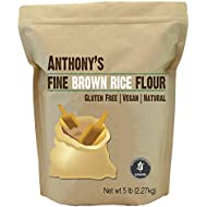 Brown Rice Flour (5 Pounds) by Anthony's, Batch Tested Gluten-Free (5lbs)