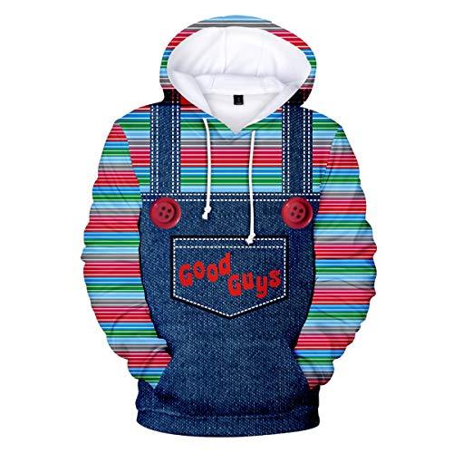 Good Guys Chucky Sweaters Unisex Sweatshirt Hooded Boy Pullover Hoodie Men Printed Novelty