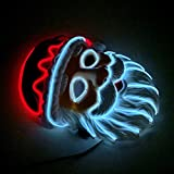 DZT1968  ChristmasLED Mask Glowing Cold Light Mask Creative Role Playing Party Decoration Headbands Set Halloween Christmas Party Santa Claus (A)