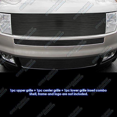- Fits 2007-2010 Ford Edge Black Upper and Bumper Combo Black Billet Grille #F86625H