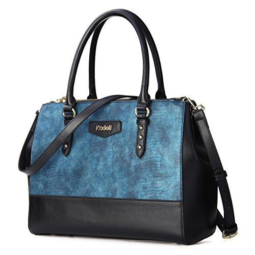 Kadell Borsa a tracolla di borsa in pelle a tracolla in crocodile Crossbody Una marca di lusso vino rosso Blu