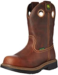 John Deere Mens 11 BRN Waterproof Steel Toe EH PO Work Boot