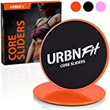 Gliding Discs Core Sliders - Dual Sided Exercise Disc For Smooth Sliding On Carpet And Hardwood Floors - Gliders Workout Legs, Arms Back, Abs At Home or Gym or Travel - Fitness Equipment (orange)