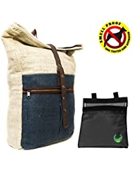 Core Hemp Large Hemp Backpack With Removable 7x6 Smell Proof Case