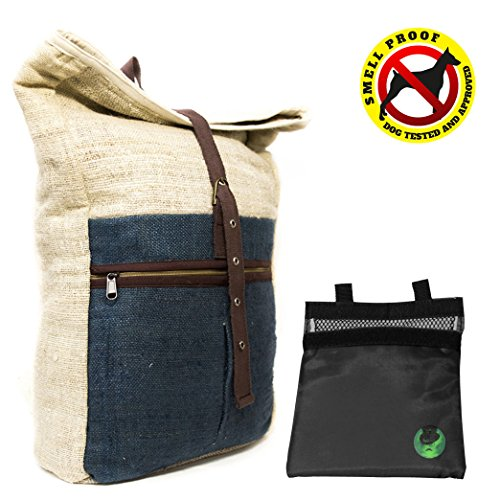 Core Hemp Large Hemp Backpack With Removable Smell Proof Bag Case