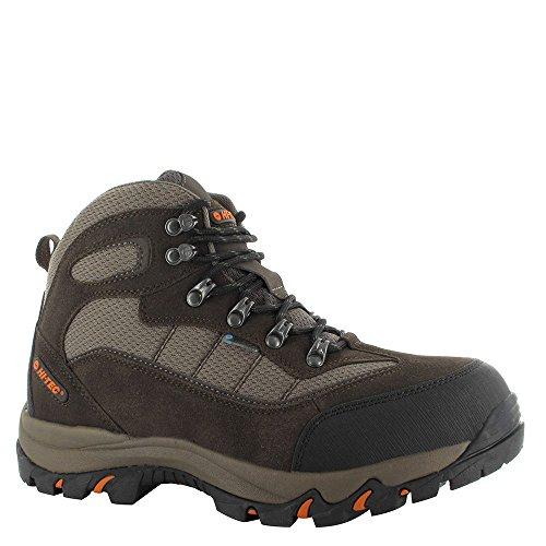 UPC 090641342959, Hi-Tec Skamania Men's Mid Hiking Boots Waterproof, CHOC/DK TAUPE/ORNG, 12D