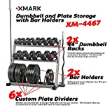 Cheap XMark Dumbbell Rack Olympic Plate Weight Rack With Olympic Bar Storage, Store Dumbbells, Plate Weights, Bumper Plates, Olympic Bars. Unclutter your Home Gym and Garage Gyms XM-4467
