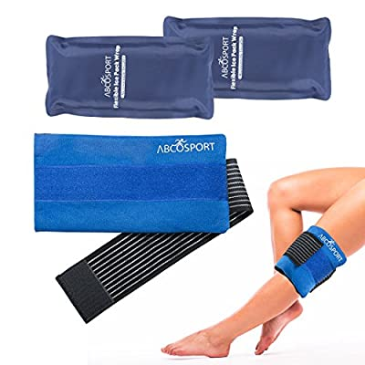 Flexible Gel Ice Pack & Wrap for Hot and Cold Compression Therapy - Adjustable Velcro Strap for Desired Compression - Effective Pain Relief & Recovery - Ideal for Neck, Knee, Elbow, Arm, & Head