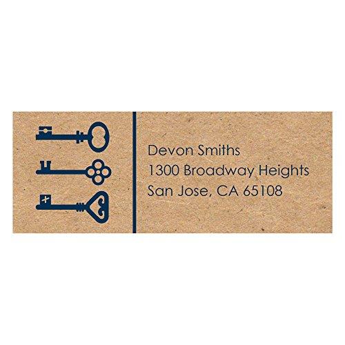 Grad Address Label (Custom Grad Keys to Success - Personalized Graduation Party Return Address Labels - Set of 30)