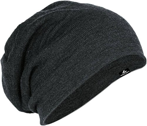 Koloa Surf Slouchy Beanie in Charcoal Heather One size