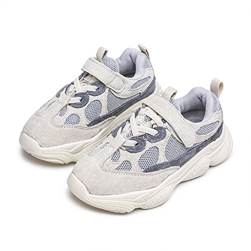 cici shoes Boys Tennis Shoes Lightweight Kids Sneakers Running Shoes Athletic Sport Trainer (Grey / 26/9.5M US Toddler) ()