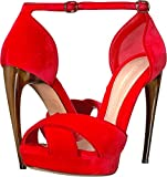 Alexander McQueen Women's Horn Heel Pump Flame Red/Carmin Red 39 M EU