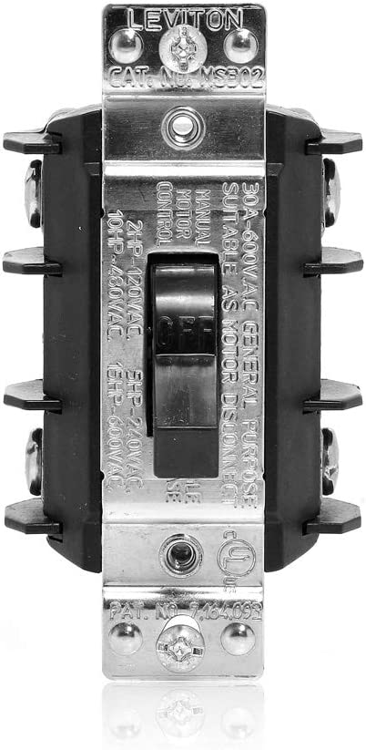 Leviton MS302-DS, Black - Motor Switch -