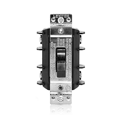 leviton ms302 ds 30 amp, 600 volt, double pole, single phase ac AC Motor Starter Switch 600 volt, double pole, single phase ac motor starter, suitable as motor disconnect, industrial grade, non grounding, black motor switch amazon com