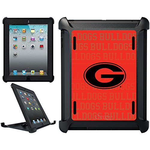 OtterBox iPad (2nd-4th Generation) Black Defender Series Case with Georgia Bulldogs Repeat Design by Coveroo (Georgia Bulldog Tablet Cover compare prices)