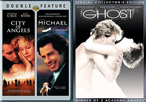 Spirit & Romance 3 Movie Collection Ghost / City of Angels / Michael John Travolta DVD film favorites Set 3 pack - Seattle Sun Hours