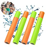 YJOY Water Guns Water Blaster,4 Pack Super Soaker Foam Pool Noodles Pump Outdoor Water Toys Blaster Shooter Swimming Pool Beach Toys for Kids Boys Girls Adults
