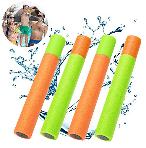 (YJOY Water Guns Water Blaster,4 Pack Super Soaker Foam Pool Noodles Pump Outdoor Water Toys Blaster Shooter Swimming Pool Beach Toys for Kids Boys Girls)