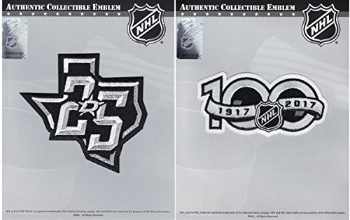 Dallas Stars 25th & NHL 100th Centennial Season Anniversary Embroidered Jersey Patch