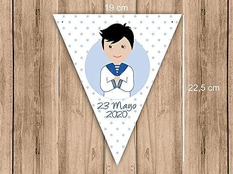 Guirnalda Mi Primera Comunión niño con traje marinero. Guirnalda ...
