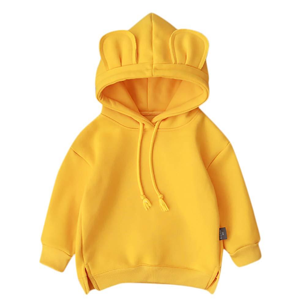 Huhu833 Baby Sweatshirts, Kleinkind Baby Kinder Jungen Mä dchen Mit Kapuze Pullover Cartoon 3D Ohr Hoodie Sweatshirt Tops Kleidung