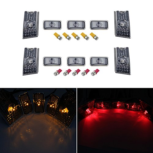 hercoo-pack-of-10pc-roof-cab-marker-lights-lens-w-auto-led-lamp-fits-2003-2009-hummer-h2-smoke